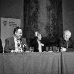 Lennart Gabrielsson, Rickard Klerfors, Anneli Lindahl Kenny och Thomas Hammarberg i den avslutande paneldebbatten