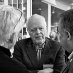 Thomas Hammarberg i samtal med pressen