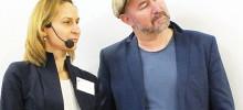 Renate och Pär Johansson vid konferensen i Riga höst 2017_klippt version Tamara Velki Association