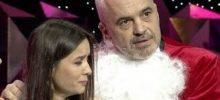 Eriglisa och premiärminister Edi Rama under showen